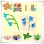 Цветя и вази оригами