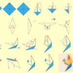 Оригами жерав, лебед