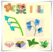 цветя, оригами, хартия